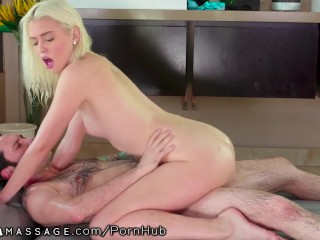 Cute Blonde Teen Masseuse Gets Creampied By Boss Man