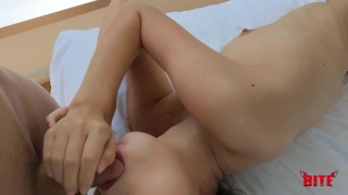 Perfect Skinny Teen Gets Her Tight Pussy Rubbed and Fucked Part I