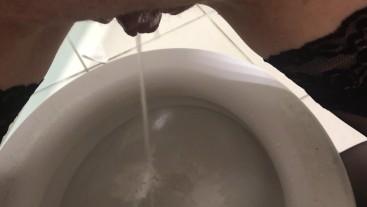 Piss in Public Toilet - Pissing in Shop