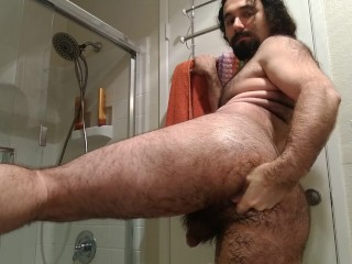 Sensual  anal fisting: young guy enjoys his fist in his ass deeply, gapes