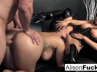 Peeping Tom Paradise Fucking, 3-way gonzo energetic sex with alison Big Tits Brunette Hardcore MILF