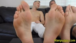 Giant Hunk & DILF Demand Foot Worship - Macrophilia - Alrik Angel, Manpuppy