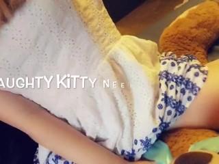 Little playful kitten teases you