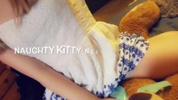 Little playful kitten teases you