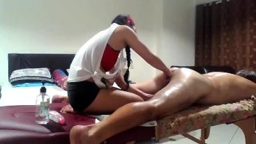 Asian MILF gives Prostate Massage