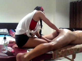 Asian MILF gives Prostate Massage