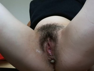 Fucking anal young mummy with dildo