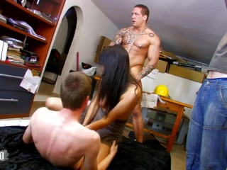 What Does Ejaculation Taste Like Fucking, Hot spanish brunette anA Ribera In some wild crazy threeso