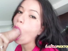 Big mouthed Latina roughly fucked