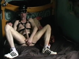 leather big cock oil edging smoker