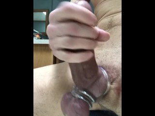Gushing Creamy White Sperm