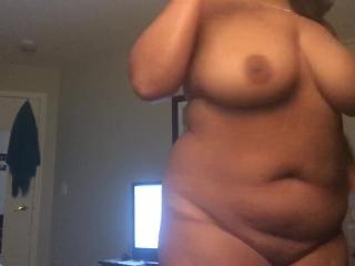 Stripping off my nighty