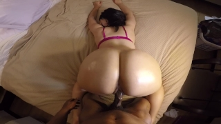 Bubble butt slut take's backshots in pink bra w/ great POV!