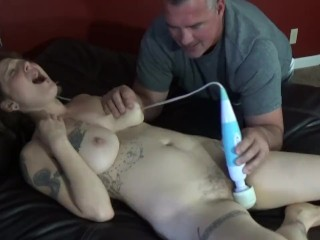 Misty Smalls Hitachi Masturbation and Orgasms