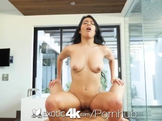 EXOTIC4k Perfectly shaved pussy WRECKED by big dick