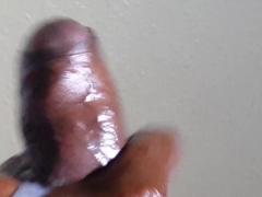 Big black cock bust explosive nut