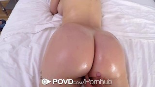 POVD NEW Look for big dick gobbling Lana Rhoades Tied tribbing