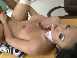Black Top Fucks Asian TS Schoolgirl Raw