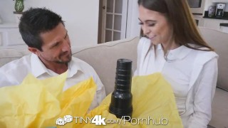 TINY4k Step daughter Riley Reid uses fathers day gift on step dad  riley reid step dad step daughter hd blowjob small tits tiny4k big dick toys hardcore 4k brunette petite sex natural tits cuminmouth