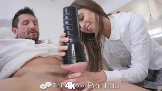 TINY4k Step daughter Riley Reid uses fathers day gift on step dad Pov asian