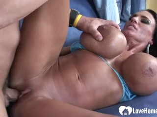 Brother catches sister masturbating with vibrator