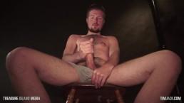 Hot lumberdad strokes his oily cock