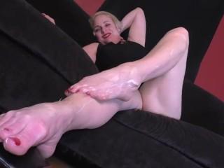 Blonde MILF Foot Fetish Big Feet