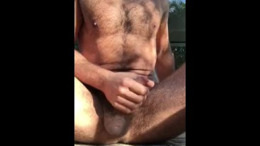 Morning wank with cum