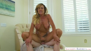 Australian MILF Aubrey Black Takes Teen's Virginity Day sexy