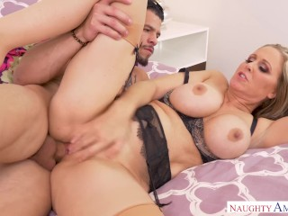 Young lezzies with marvelous bodies fuck each other with a strapon