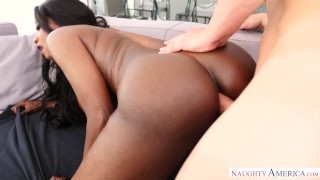 Big ebony white takes cock ass in milf pussy cock mom