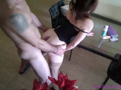 Hot married has sex on the table - giselle Fucking with good cock and toys-