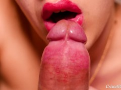 Blowjob and Swallow Closeup - Cristall Gloss