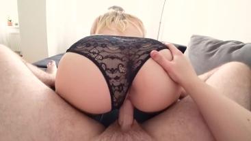 Young couple has sex through panties