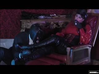 Latex Smoking Mistress Boot Worship Mistress Julie Simone