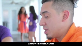 DaughterSwap - Hot Latina Besties Cock Swap  daughters ebony dad black 4some busty orgy bigtits interracial stepdad latina shaved daughterswap latin group demi sutra
