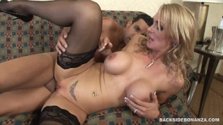 BACKSIDE Tanya Tate spreads her MILF Cunt for Latin Cock