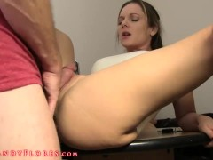 Watching sex with hot step aunt