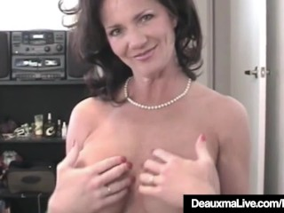 Busty Cougar Deauxma Grabs Your Throbbing Cock & Blows It!