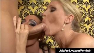 Horny-Hot-Milfs-Julia-Ann-and-Jessica-James-Cum-Swap-After-BJ