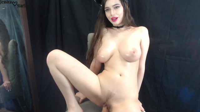 Kitty foxx fucks - Cute kitty with big tits fucks and rides dildo on cam - jessica starling
