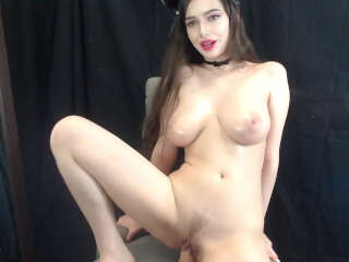 Picture of Cute Kitty with Big Tits Fucks and Rides Dildo on Cam - Jessica Starling