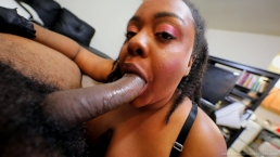 Jade Jordan - Sloppy And Messy Blowjob Facial
