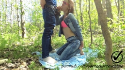 First Outdoor. Part 1 of 2. Quickie Blowjob