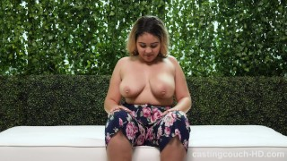 BBW With Fat Ass And Perfect Big Naturals Gets Freaky During Audition Teen blonde