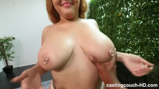 BBW With Fat Ass And Perfect Big Naturals Gets Freaky During Audition Bj short