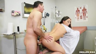 Whiteney Gets Ass Fucked During A Very Thorough Anal Checkup Shaved bj