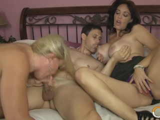 Straight theatre xxx super hot wife charlee chase ans mistress alexis fuck one guy together!