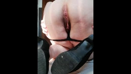 Amateur italian chubby in heels real squirt hairy pussy POV doggy style ass