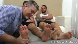 This mature perv is a feet worshiping man whore